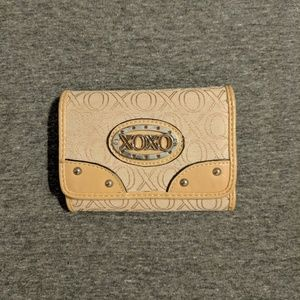 XOXO beige wallet